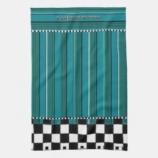 Checkered Stripe Kitchen Towel