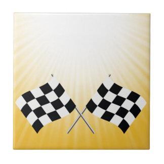 checkered symbol tile