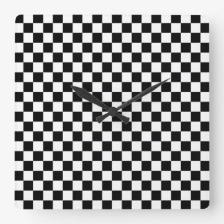 Checkered Time Square Wall Clock