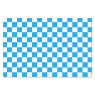 Checkered Turquoise and White Tissue Paper
