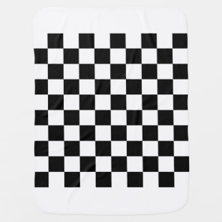 Checkered - White and Black Baby Blanket
