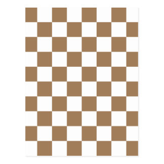 Checkered - White and Pale Brown Postcard