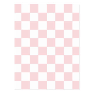 Checkered - White and Pale Pink Postcard