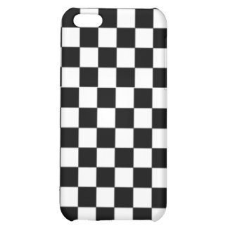 Checkers chess board games hobby black & white iPhone 5C case