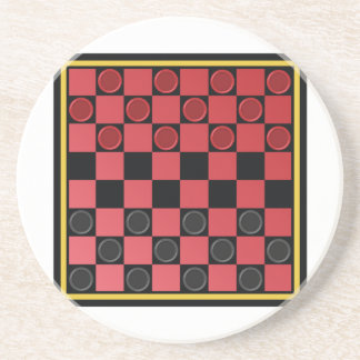 Checkers Game Beverage Coaster