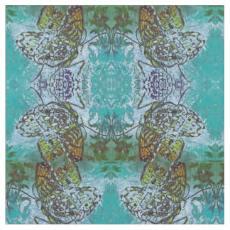 Checkerspot Butterfly Mandala Pattern Fabric