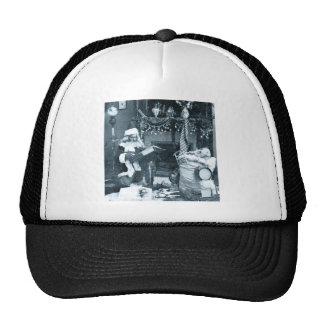 Checking It Twice - Vintage Stereoview Hat