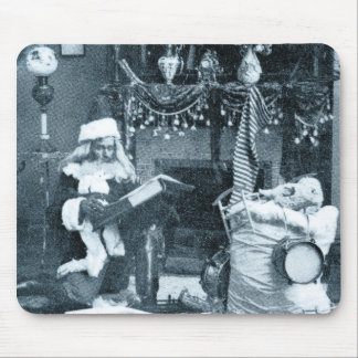 Checking It Twice - Vintage Stereoview Mouse Pad