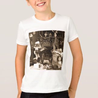 Checking It Twice - Vintage Stereoview T-Shirt