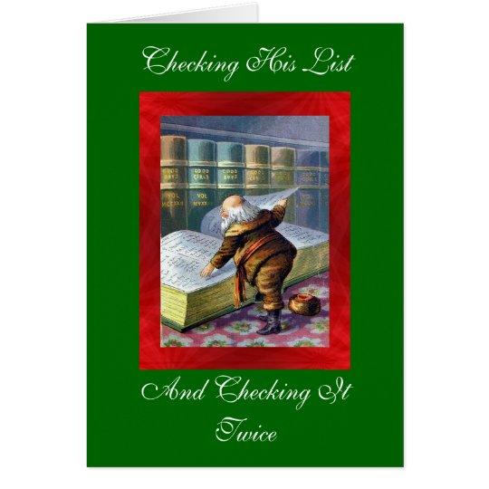 Checking the List Christmas Card