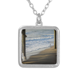 Checking The Shoreline Silver Plated Necklace