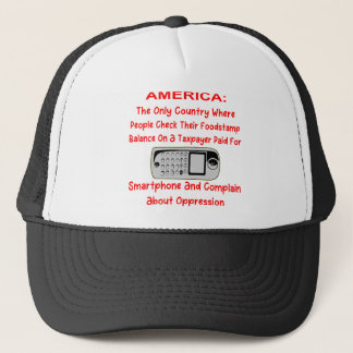 Checking Your Foodstamps On A Taxpayer Paid Phone Trucker Hat