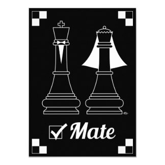 "Checkmate 4.5"" X 6.25"" Invitation Card"