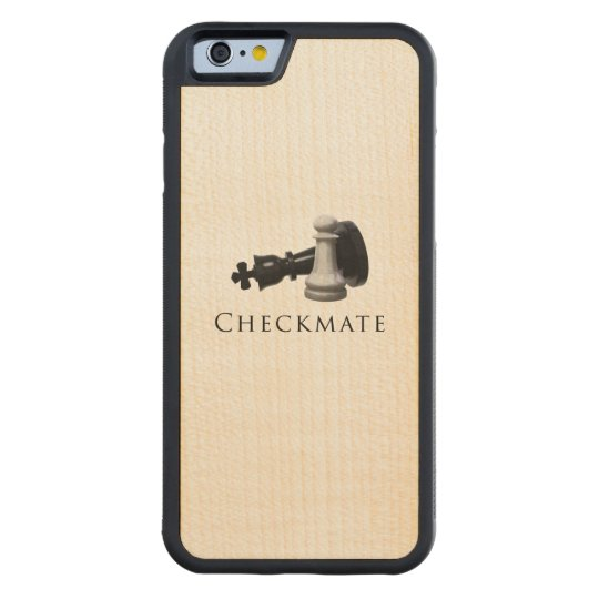 Checkmate Chess Carved Maple iPhone 6 Bumper Case