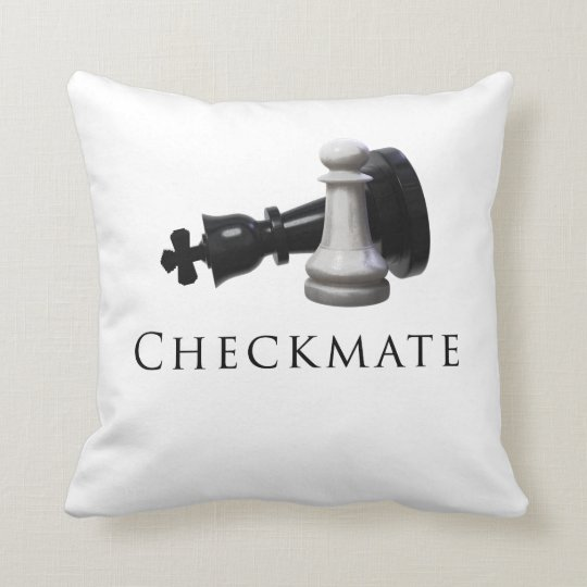 Checkmate Chess Throw Pillow