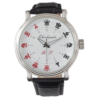 Checkmate Chess Watch Red and Black