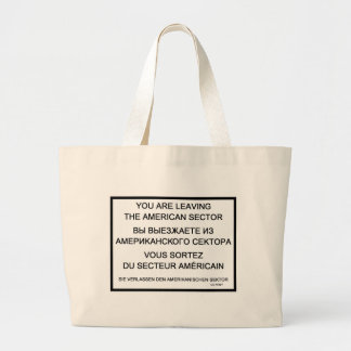 Checkpoint Charlie Sign Canvas Bag