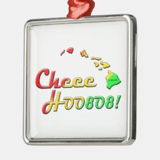 CHEEHOO 808 Silver-Colored SQUARE ORNAMENT