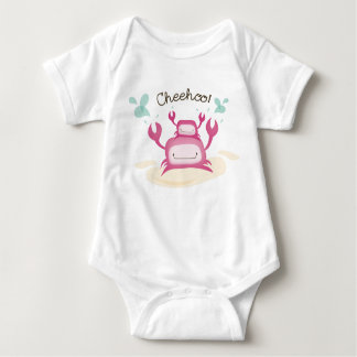 """Cheehoo!"" Maui Hawaii Crabs Baby Bodysuit"