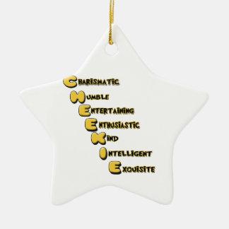 cheekie m ceramic star ornament
