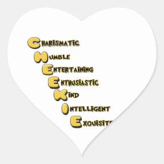 cheekie m heart sticker