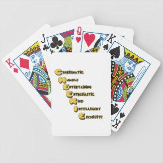 cheekie m poker deck