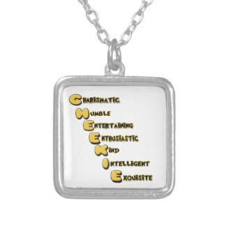 cheekie m silver plated necklace