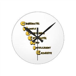 cheekie m wall clock