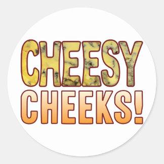 Cheeks Blue Cheese Round Sticker