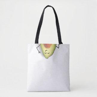 Cheeky Avocado veggie funny tote bag