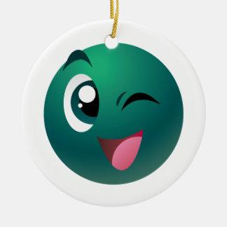 Cheeky Ball Round Ceramic Ornament