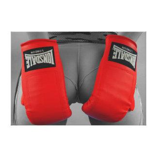 Cheeky boxer canvas print