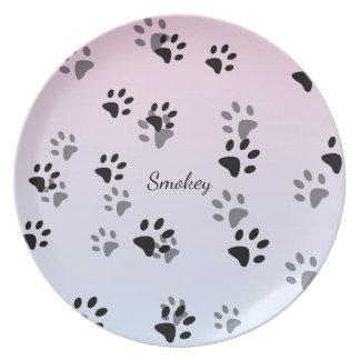 Cheeky Cat Footprints Template Dinner Plates