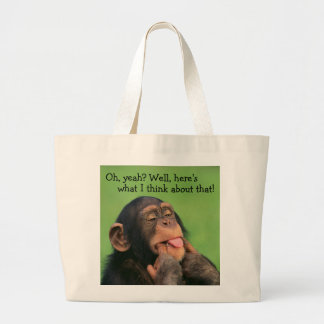 Cheeky Chimp Large Tote Bag