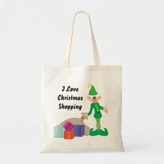 Cheeky Elf Christmas Shopping Bag