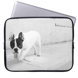 Cheeky Frenchie Black & White Laptop Computer Sleeve