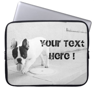 Cheeky Frenchie Black & White- Template Computer Sleeves