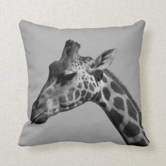 Cheeky giraffe throw pillow