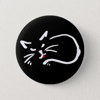 cheeky kitty 2 inch round button