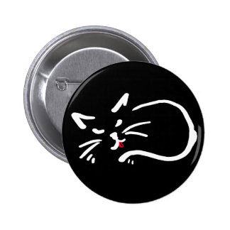 cheeky kitty 2 inch round button