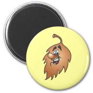 Cheeky Leaf 2 Inch Round Magnet