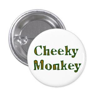 cheeky monkey 1 inch round button