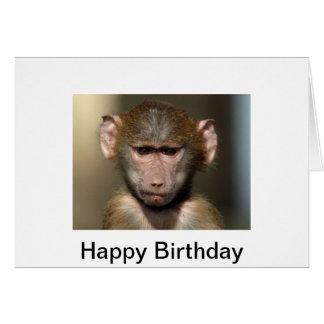 Cheeky Monkey Birthday Card - Cute Animal Design