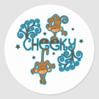 Cheeky Monkey Classic Round Sticker