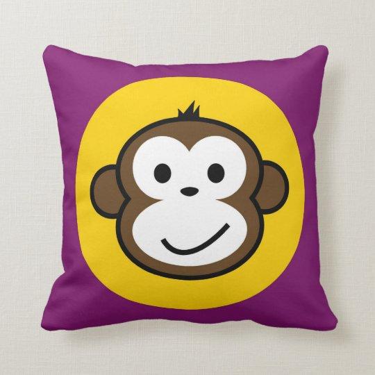 cheeky monkey cushion purple
