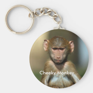 Cheeky Monkey - Cute Baby Baboon Keychain