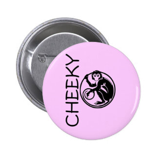 Cheeky Monkey Illustration 2 Inch Round Button