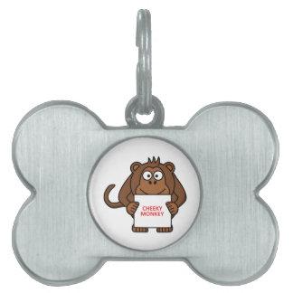 Cheeky Monkey Pet Tags