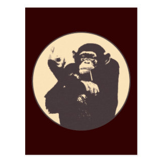 Cheeky Monkey Postcard