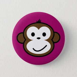 Cheeky Monkey [purple] 2 Inch Round Button